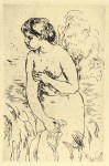 Lot #2199: PIERRE-AUGUSTE RENOIR - Baigneuse debout, a Mi-Jambes - Original etching