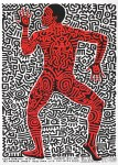 Lot #1202: KEITH HARING - Into 84 - Original color lithograph