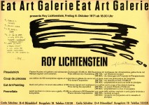 Lot #2168: ROY LICHTENSTEIN - Brushstroke: Eat Art Galerie - Original lithograph