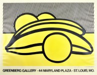 Lot #1446: ROY LICHTENSTEIN - Bananas and Grapefruit - Color offset lithograph