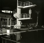 Lot #1806: HELMUT NEWTON - Nude, Diving Tower, Old Beach Hotel, Monte Carlo - Original photolithograph