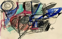Lot #691: AFRO [afro basaldella] - Bicicletta - Mixed media on paper