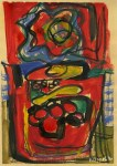 Lot #2131: KAREL APPEL [d'apres] - Composition - Oil on paper