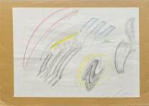 Lot #1356: MARIO SCHIFANO - Composizione - Crayon and pencil drawing