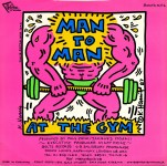 Lot #1906: KEITH HARING - Man to Man: At the Gym - Original color offset lithograph