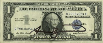 Lot #1023: ANDY WARHOL - One Dollar Washington - Color engraving and letterpress