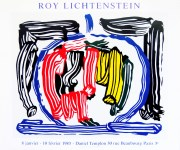 Lot #1406: ROY LICHTENSTEIN - Brushstroke Still Life with Apple [variation #1] - Color offset lithograph