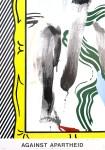 Lot #2233: ROY LICHTENSTEIN - Against Apartheid - Color offset lithograph poster