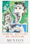 Lot #886: PABLO PICASSO - Sixieme Biennale de Peinture - Color lithograph and collotype