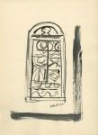Lot #1754: MASSIMO CAMPIGLI [d'apres] - Portone - Watercolor and gouache drawing