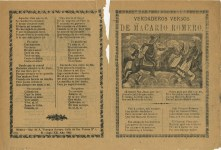 Lot #48: JOSE GUADALUPE POSADA - Verdaderos Versos de Macario Romero - Relief engraving