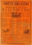Lot #513: JOSE GUADALUPE POSADA - Gaceta Callejera [1894] - Relief engraving
