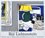 Lot #1553: ROY LICHTENSTEIN - Two Paintings: Green Lamp - Color poster