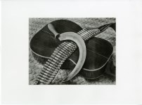 Lot #702: TINA MODOTTI - Bandolier, Guitar, Sickle - Original photogravure