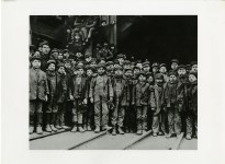 Lot #750: LEWIS HINE - A Group of the Youngest Coal Breaker Boys in a Pennsylvania Coal Mine, South Pittston, Pennsylvania - Original photogravure