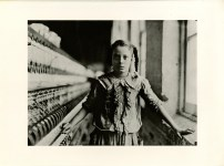 Lot #124: LEWIS HINE - Ten Year Old Adolescent Girl, a Spinner in a North Carolina Cotton Mill - Original photogravure