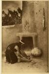Lot #1596: EDWARD S. CURTIS - The Grinding Stone - Original vintage sepia toned photogravure