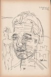 Lot #1746: ERNST LUDWIG KIRCHNER [imputee] - Portrait und Akt - Pen and ink drawing