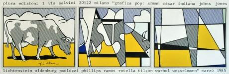 Lot #1343: ROY LICHTENSTEIN - Cow Going Abstract - Original color silkscreen