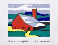 Lot #939: ROY LICHTENSTEIN - Red Barn II - Color silkscreen