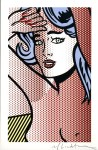 Lot #1807: ROY LICHTENSTEIN - Nude with Blue Hair - Color relief print