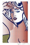 Lot #301: ROY LICHTENSTEIN - Nude with Blue Hair, State I - Color relief print