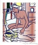 Lot #801: ROY LICHTENSTEIN - Two Nudes, State I - Color relief print