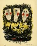 Lot #814: RUFINO TAMAYO - Tres Mascaras y Tres Alacranes - Color lithograph