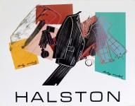 Lot #1236: ANDY WARHOL - Halston Men's Wear - Original color silkscreen and lithograph