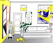Lot #1455: ROY LICHTENSTEIN - Artist's Studio - Look Mickey - Color offset lithograph