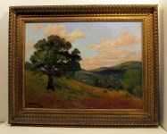 Lot #1593: BRUCE CRANE [imputee] - The Lone Tree - Oil on canvas