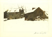 Lot #2174: ANDREW WYETH - Brinton's Mill - Color offset lithograph