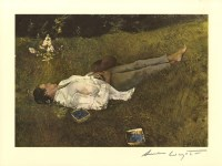 Lot #1607: ANDREW WYETH - The Berry Picker - Color offset lithograph