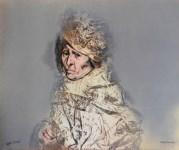 Lot #936: RAFAEL CORONEL - Retrato Funeral - Color offset lithograph