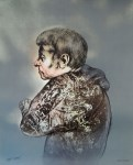 Lot #993: RAFAEL CORONEL - Perfil - Color offset lithograph