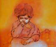 Lot #1064: RAFAEL CORONEL - Niña de las Naranjas - Color offset lithograph