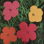 Lot #1276: ANDY WARHOL - Flowers - Color lithograph
