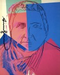Lot #2024: ANDY WARHOL - Gertrude Stein - Color offset lithograph
