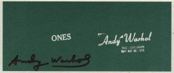 Lot #1017: ANDY WARHOL - Ones (Art Cash) - Color lithograph