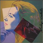 Lot #1207: ANDY WARHOL - Ingrid Bergman: Herself (04) - Color offset lithograph