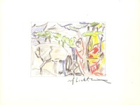 Lot #2052: ROY LICHTENSTEIN - Figures in Landscape - Color offset lithograph