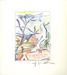 Lot #1929: ROY LICHTENSTEIN - Landscape with Red Roof - Color offset lithograph