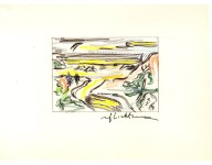 Lot #1710: ROY LICHTENSTEIN - River Valley - Color offset lithograph