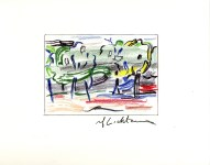 Lot #1709: ROY LICHTENSTEIN - Road before the Forest - Color offset lithograph