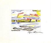 Lot #1680: ROY LICHTENSTEIN - Sea and Sky - Color offset lithograph