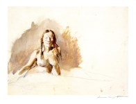 Lot #1230: ANDREW WYETH - Helga, Nude - Color offset lithograph