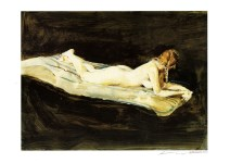 Lot #1229: ANDREW WYETH - Helga, Nude - Color offset lithograph