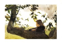Lot #2002: ANDREW WYETH - Helga in Orchard - Color offset lithograph