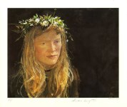 Lot #2111: ANDREW WYETH - Crown of Flowers - Color offset lithograph