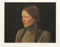 Lot #1411: ANDREW WYETH - Braids - Color offset lithograph